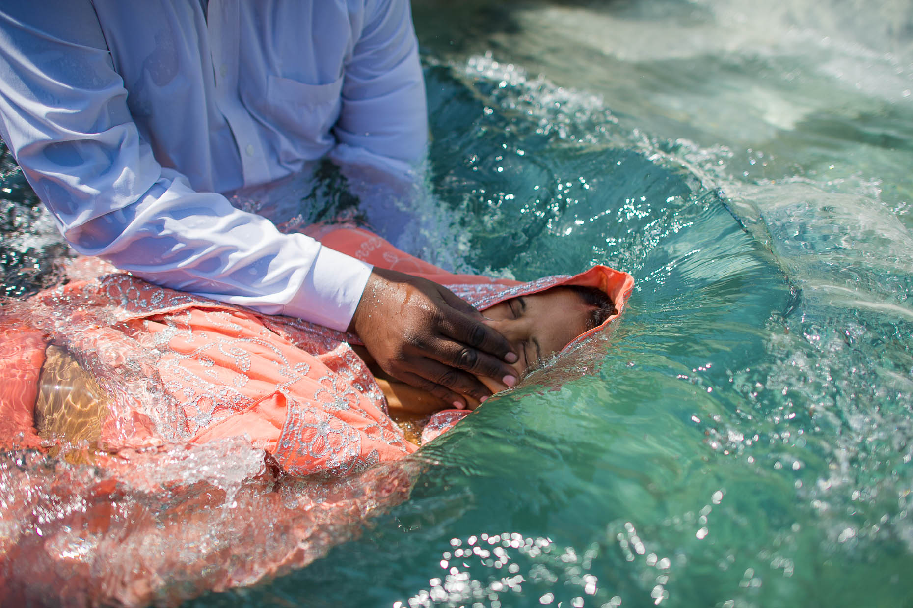 Woman-being-baptized-India