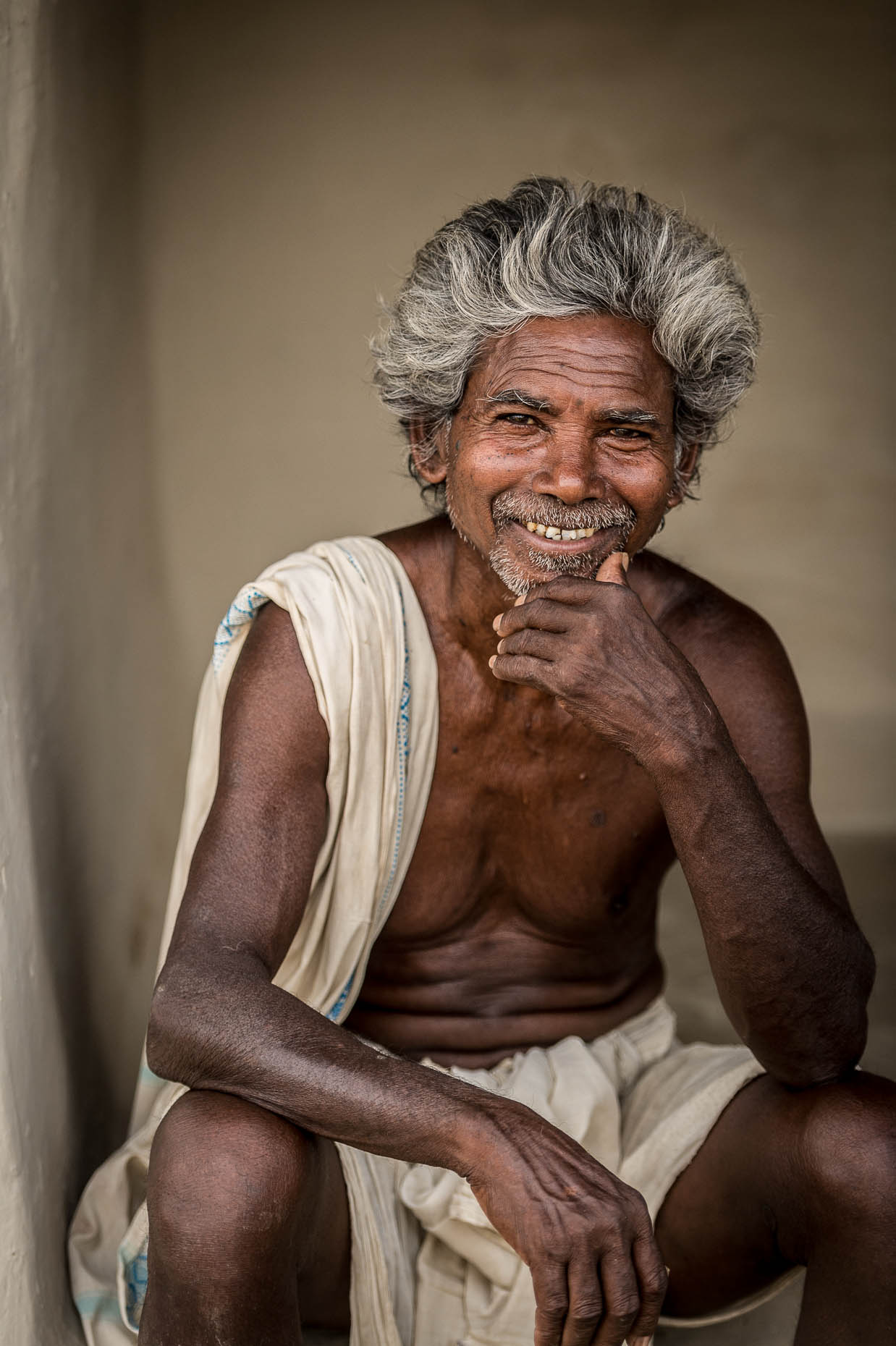 Portrait-smiling-man-India