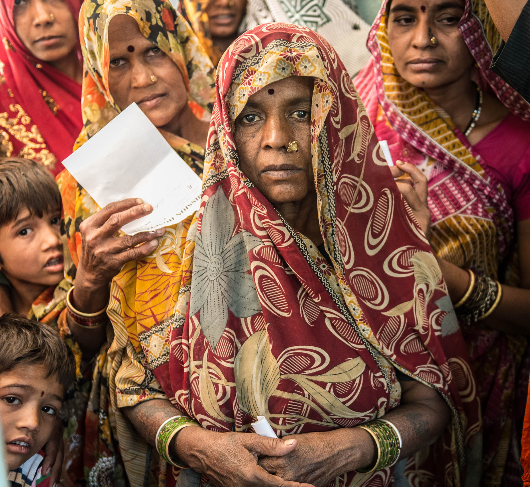 Line-at-medical-clinic-India